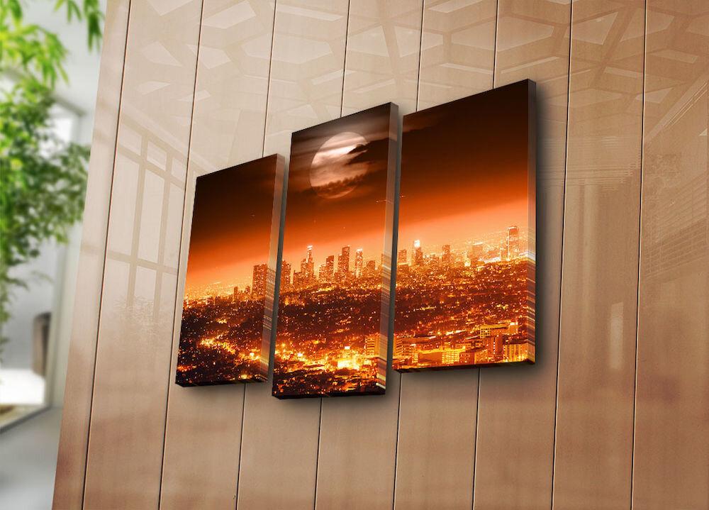 Tablou decorativ pe panza Bonanza, 242BNZ3213, 3 Piese, panza