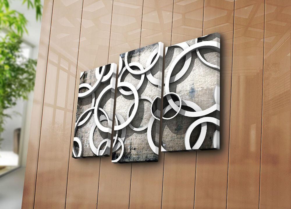 Tablou decorativ pe panza Bonanza, 242BNZ3224, 3 Piese, panza