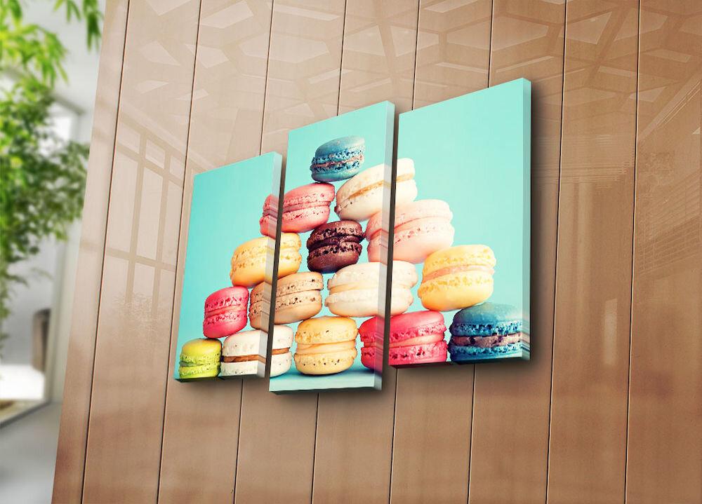 Tablou decorativ pe panza Bonanza, 242BNZ3241, 3 Piese, panza