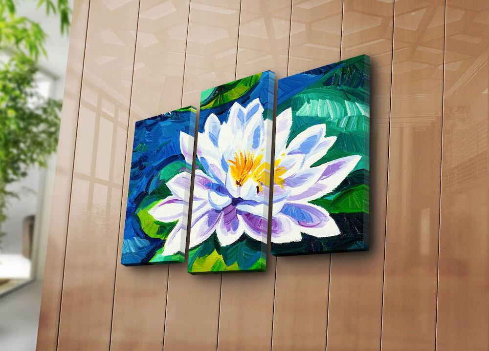 Tablou decorativ pe panza Bonanza, 242BNZ3261, 3 Piese, panza