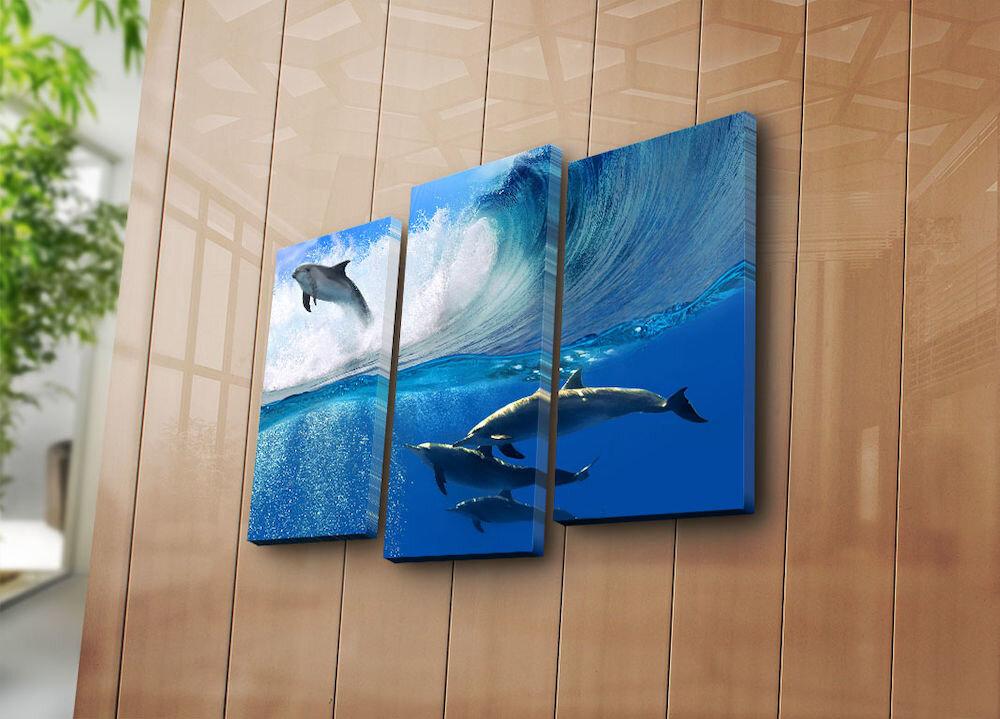 Tablou decorativ pe panza Bonanza, 242BNZ3265, 3 Piese, panza
