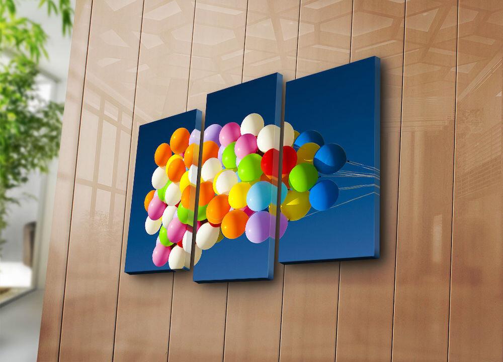Tablou decorativ pe panza Bonanza, 242BNZ3267, 3 Piese, panza