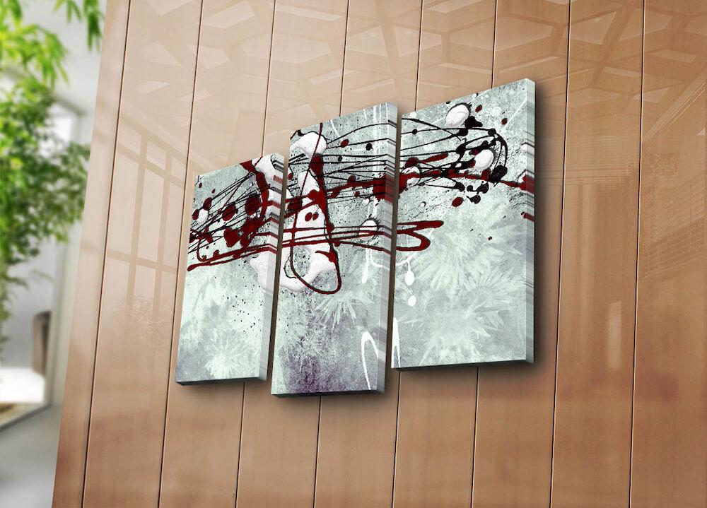 Tablou decorativ pe panza Canvart, 249CVT1230, 3 Piese, panza