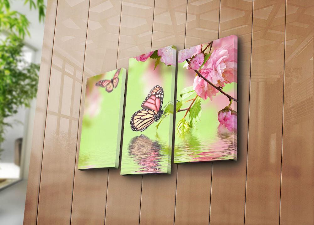 Tablou decorativ pe panza Horizon, 237HRZ4224, 3 Piese, panza