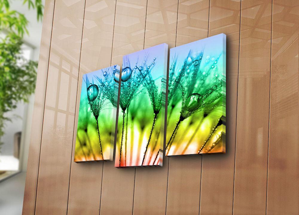Tablou decorativ pe panza Horizon, 237HRZ4227, 3 Piese, panza