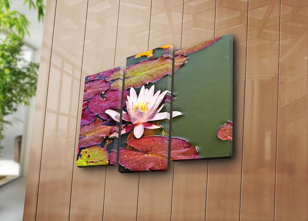 Tablou decorativ pe panza Horizon, 237HRZ1285, 3 Piese, panza