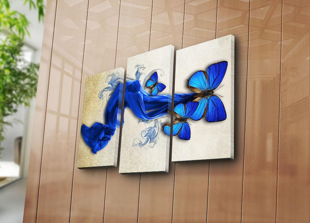 Tablou decorativ pe panza Horizon, 237HRZ4234, 3 Piese, panza