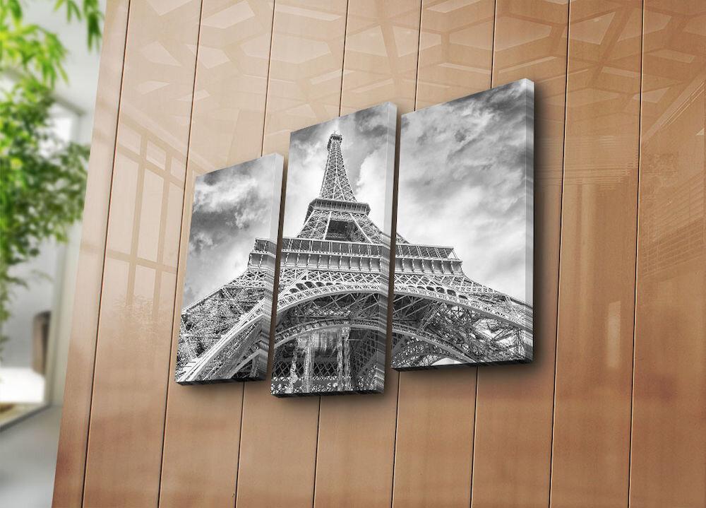 Tablou decorativ pe panza Horizon, 237HRZ4235, 3 Piese, panza