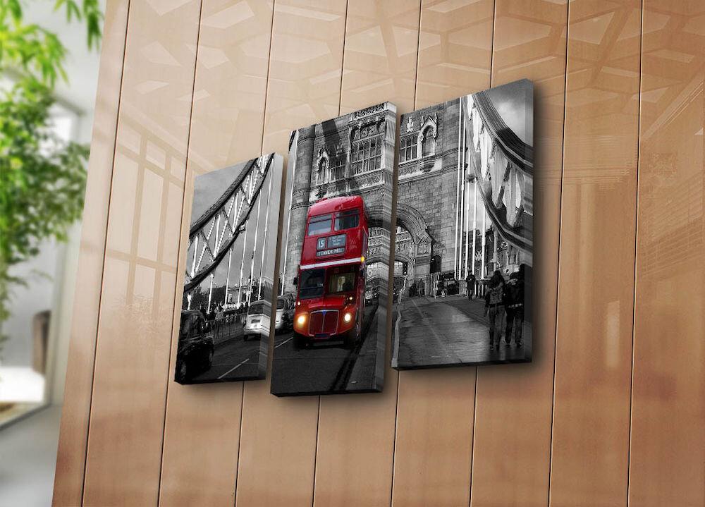 Tablou decorativ pe panza Horizon, 237HRZ4240, 3 Piese, panza