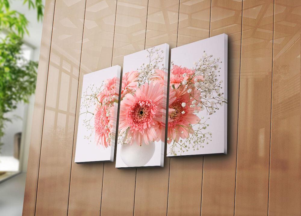 Tablou decorativ pe panza Horizon, 237HRZ4246, 3 Piese, panza