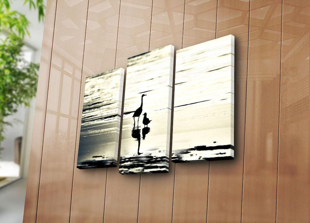 Tablou decorativ pe panza Sightly, 252SGH1285, 3 Piese, panza