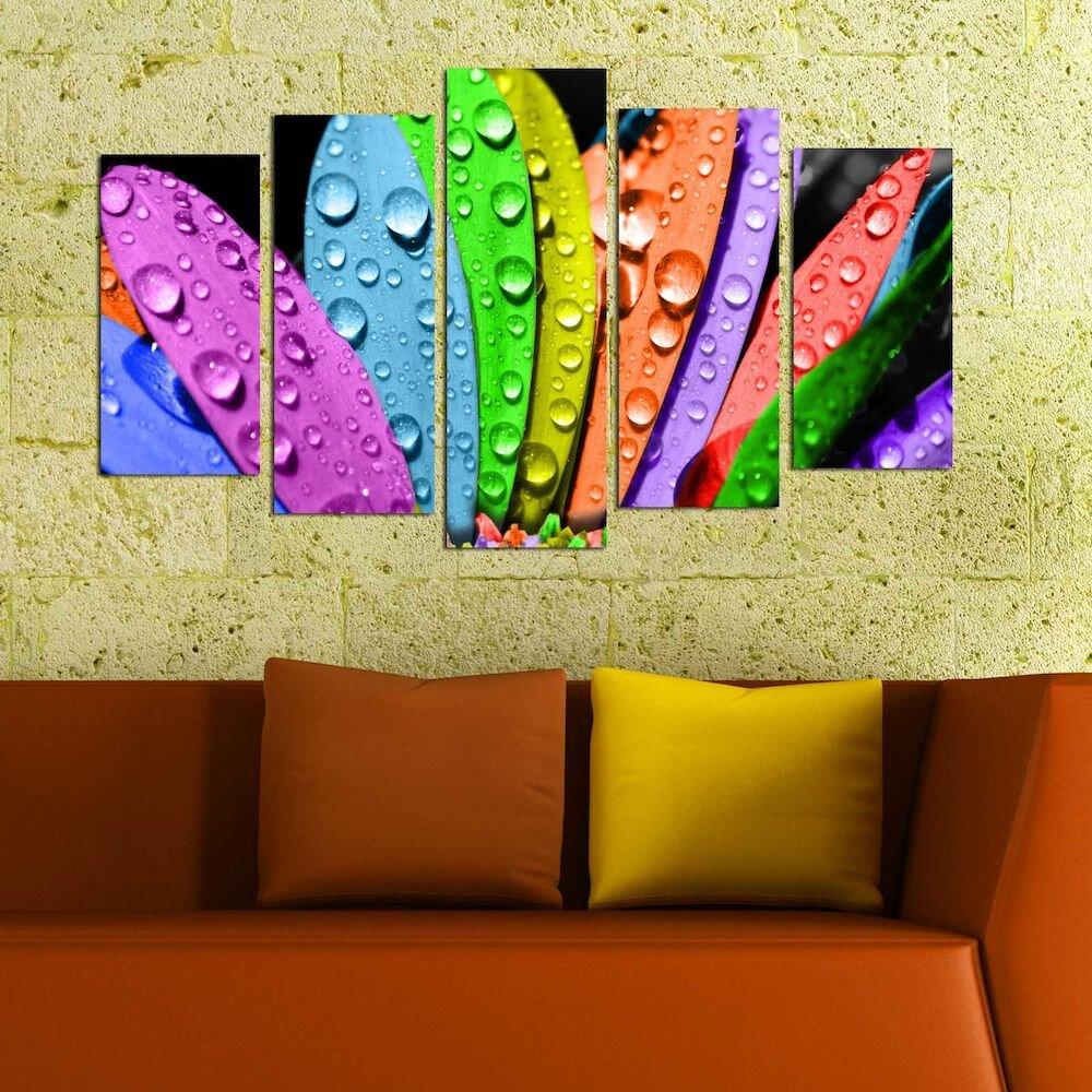 Tablou decorativ multicanvas Charm, 223CHR1943, 5 Piese, MDF