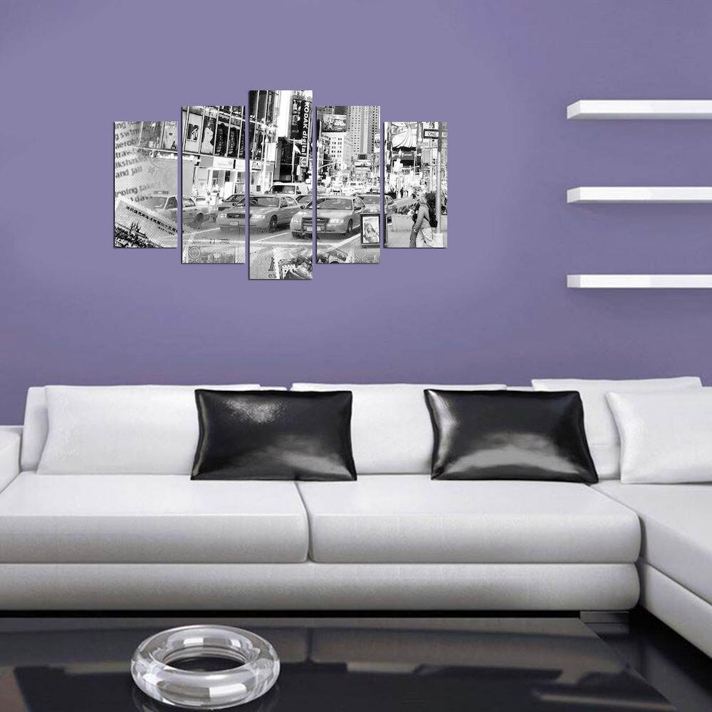 Tablou decorativ multicanvas Charm, 223CHR2914, 5 Piese, MDF