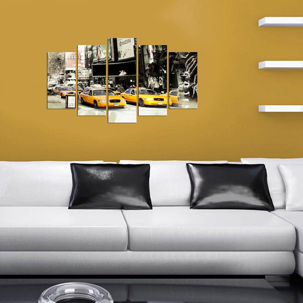 Tablou decorativ multicanvas Charm, 223CHR2915, 5 Piese, MDF