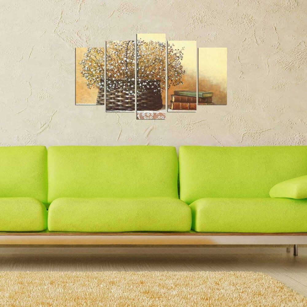 Tablou decorativ multicanvas Charm, 223CHR2927, 5 Piese, MDF