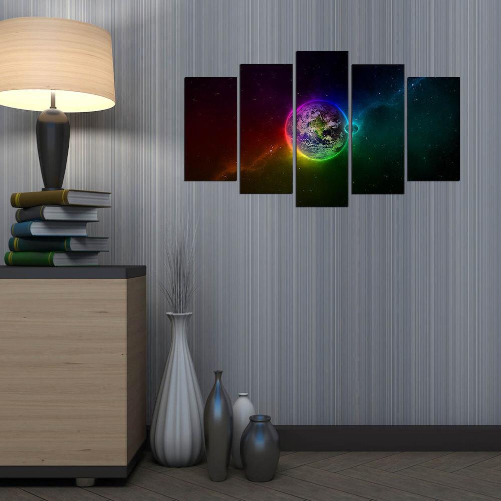 Tablou decorativ multicanvas Fascination, 224FSC1983, 5 Piese, MDF