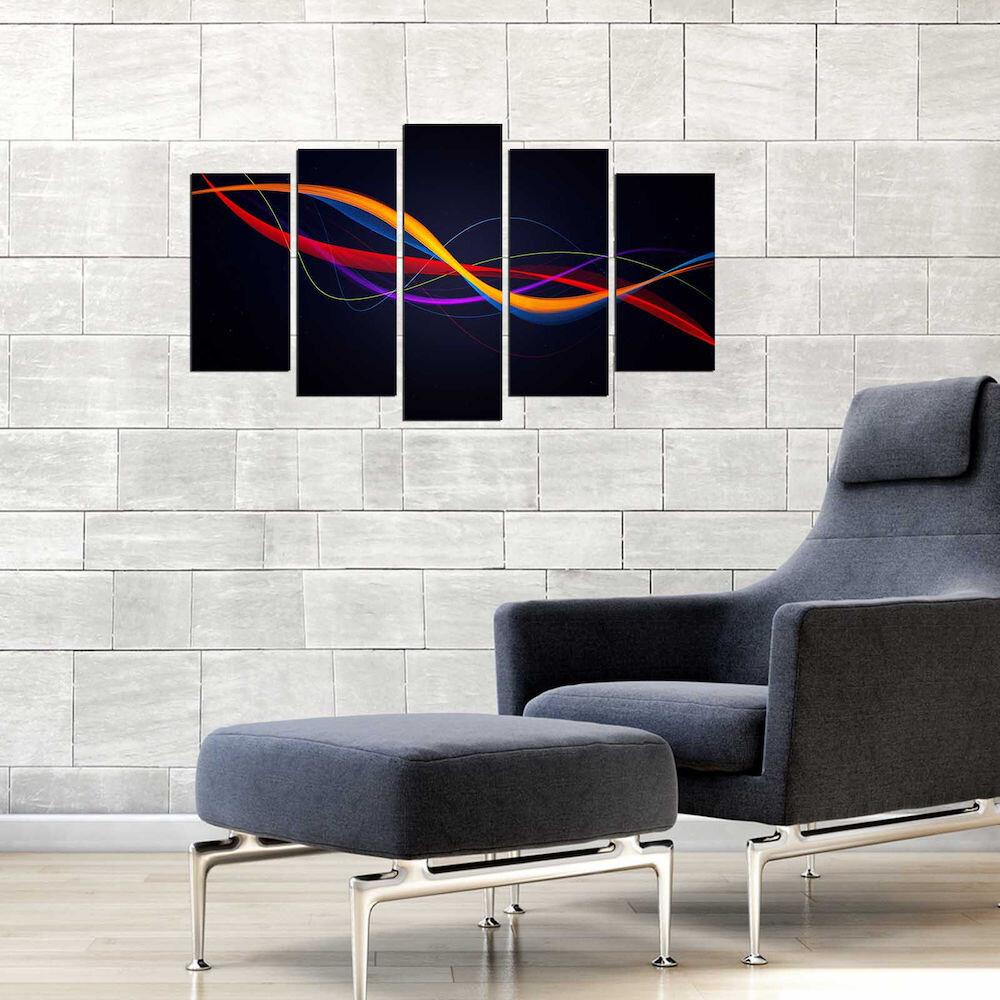 Tablou decorativ multicanvas Fascination, 224FSC2910, 5 Piese, MDF