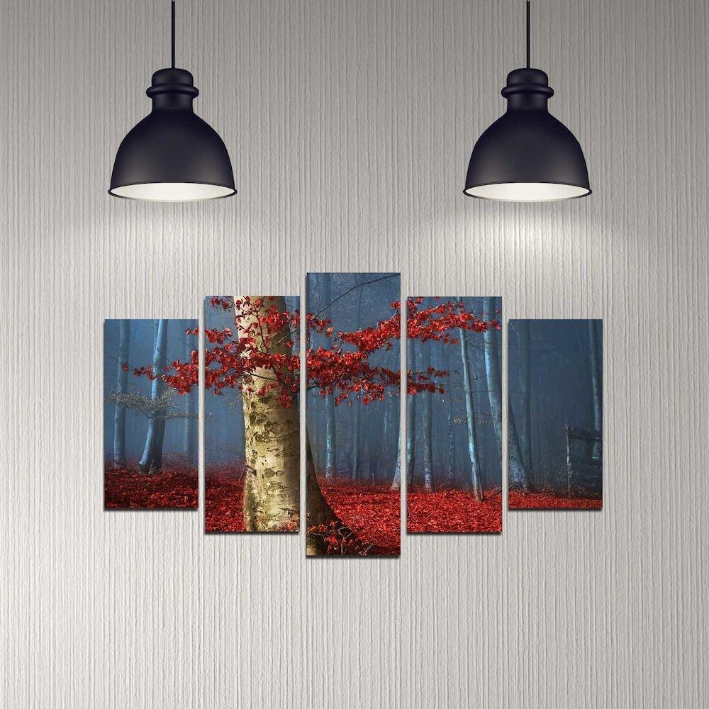 Tablou decorativ multicanvas Melody, 232MLD2918, 5 Piese, MDF