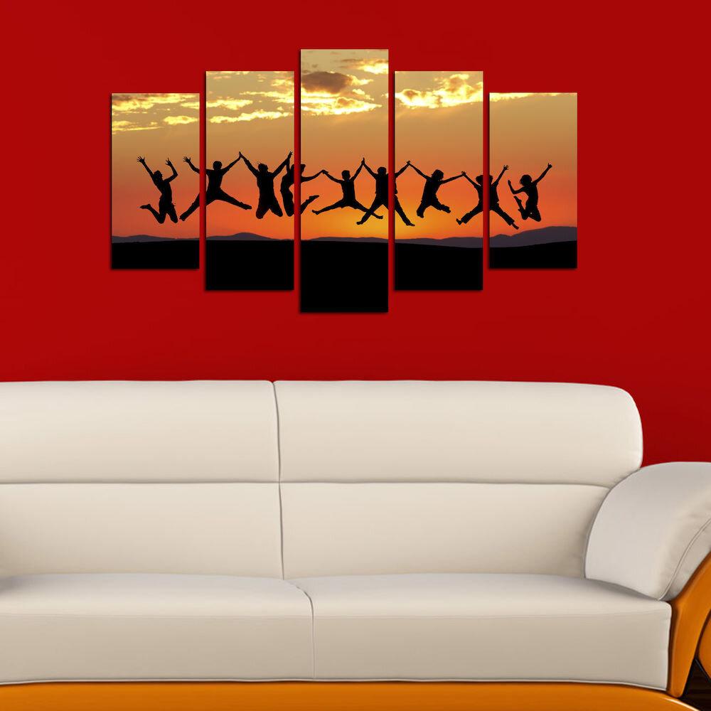 Tablou decorativ multicanvas Melody, 232MLD1984, 5 Piese, MDF