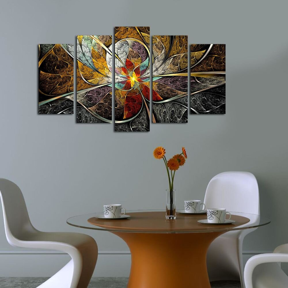 Tablou decorativ multicanvas Pure, 250PUR1911, 5 Piese, MDF