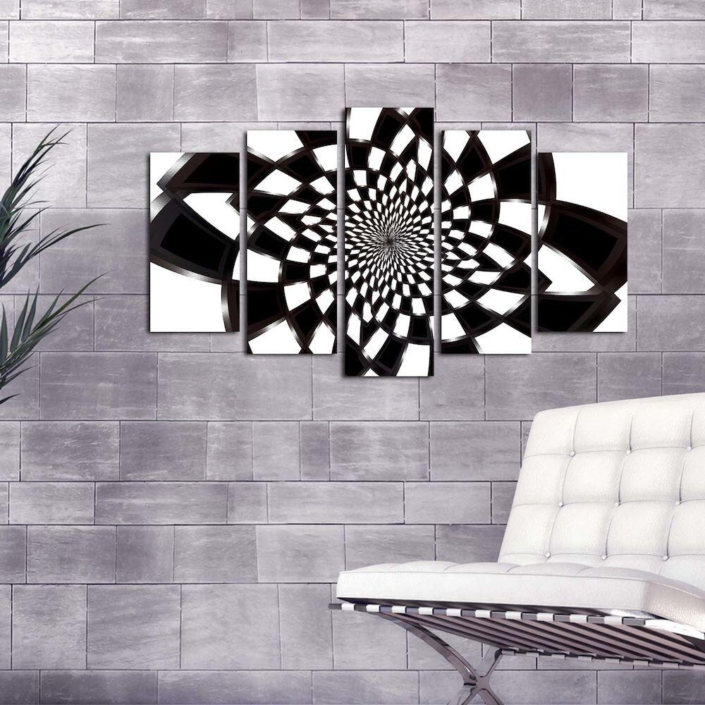 Tablou decorativ multicanvas Pure, 250PUR1904, 5 Piese, MDF