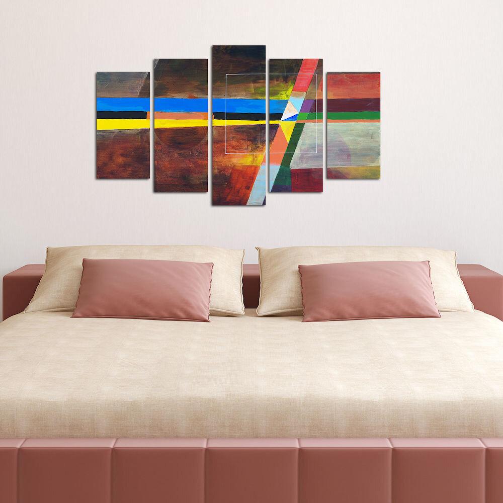 Tablou decorativ multicanvas Pure, 250PUR1950, 5 Piese, MDF