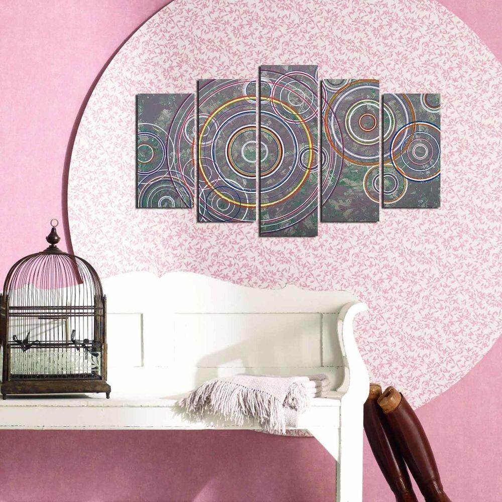 Tablou decorativ multicanvas Pure, 250PUR1983, 5 Piese, MDF