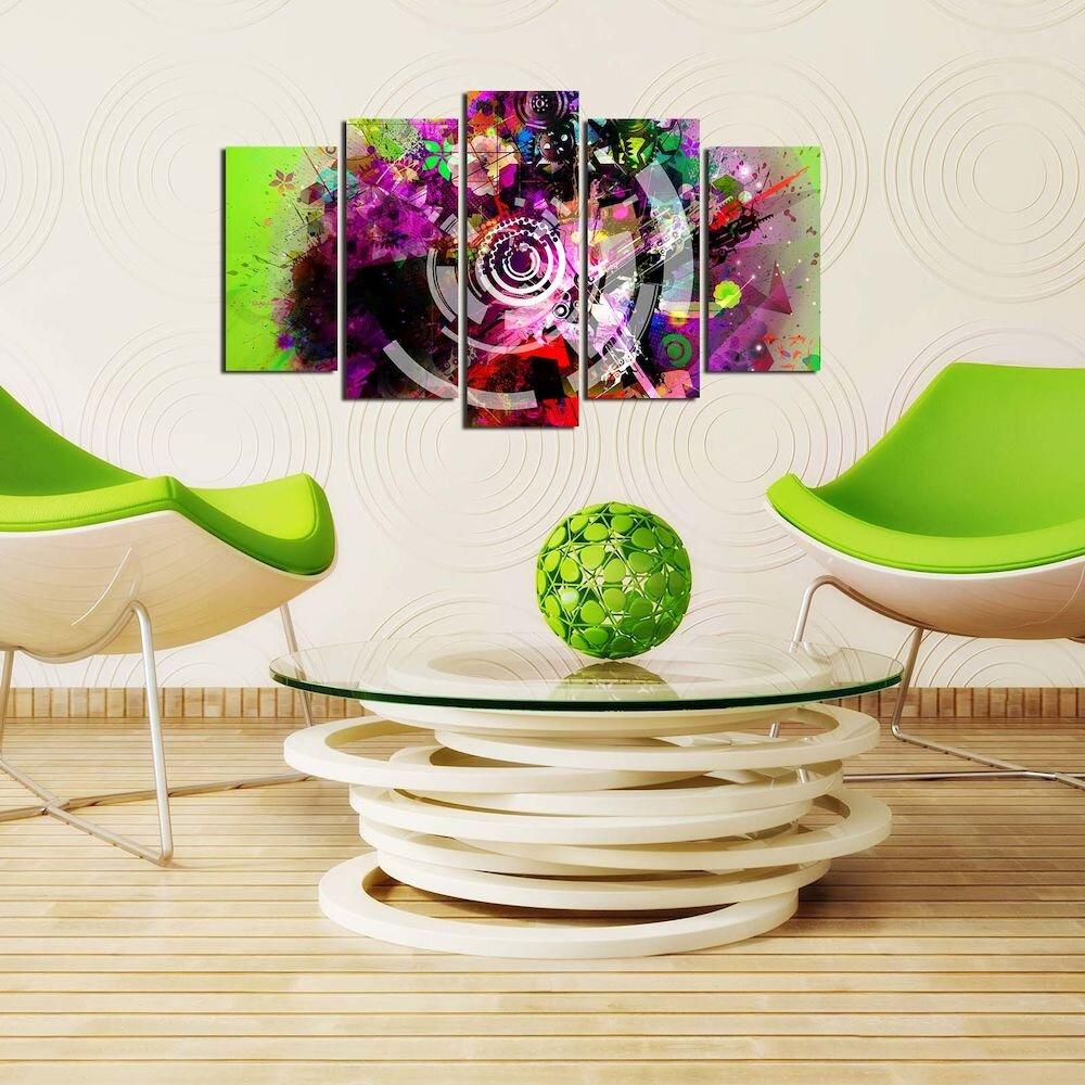 Tablou decorativ multicanvas Pure, 250PUR1984, 5 Piese, MDF