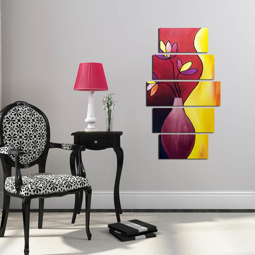 Tablou decorativ multicanvas Pure, 250PUR1989, 5 Piese, MDF