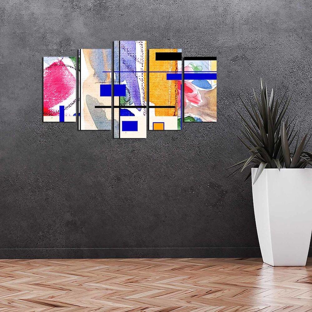Tablou decorativ multicanvas Pure, 250PUR1990, 5 Piese, MDF