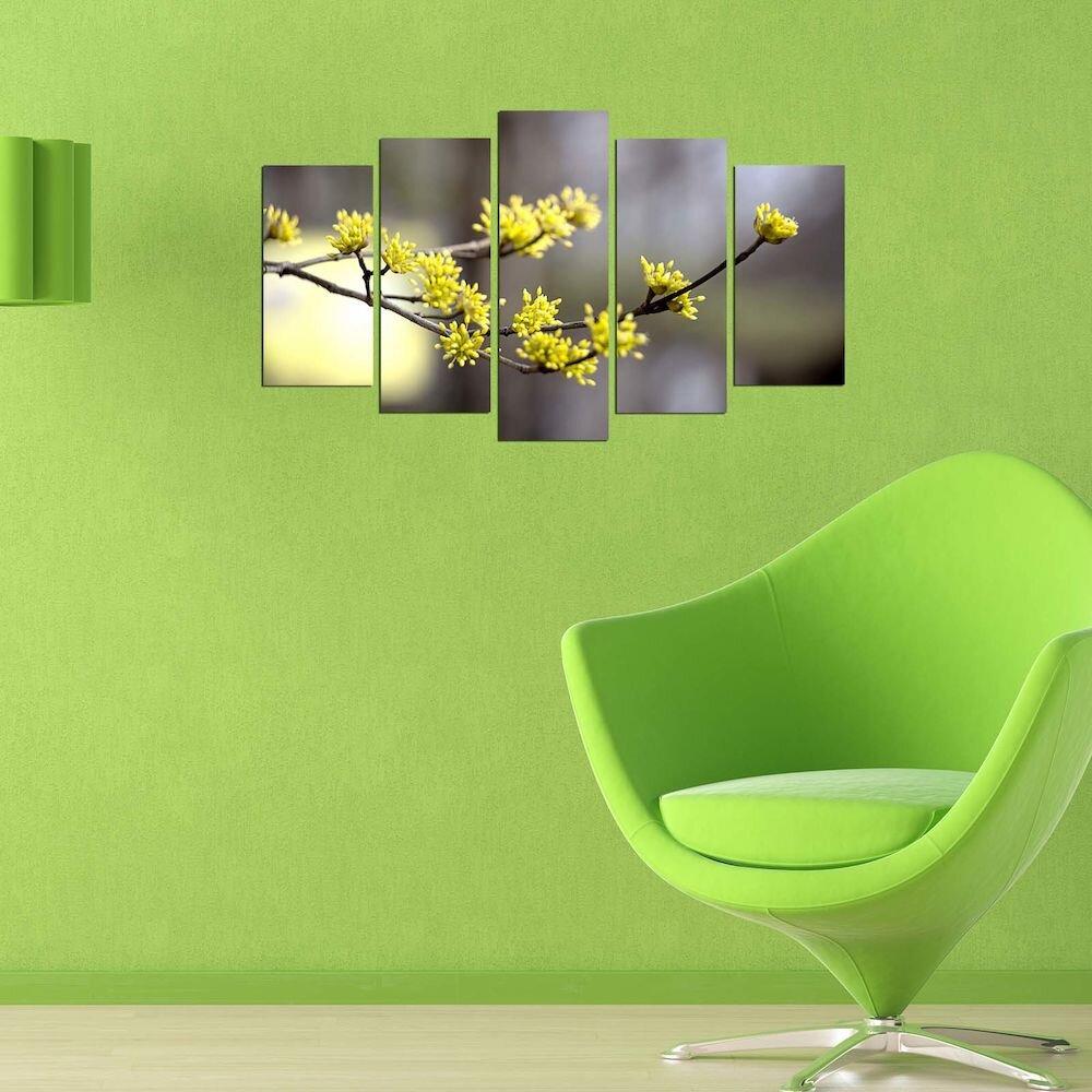 Tablou decorativ multicanvas Pure, 250PUR2902, 5 Piese, MDF