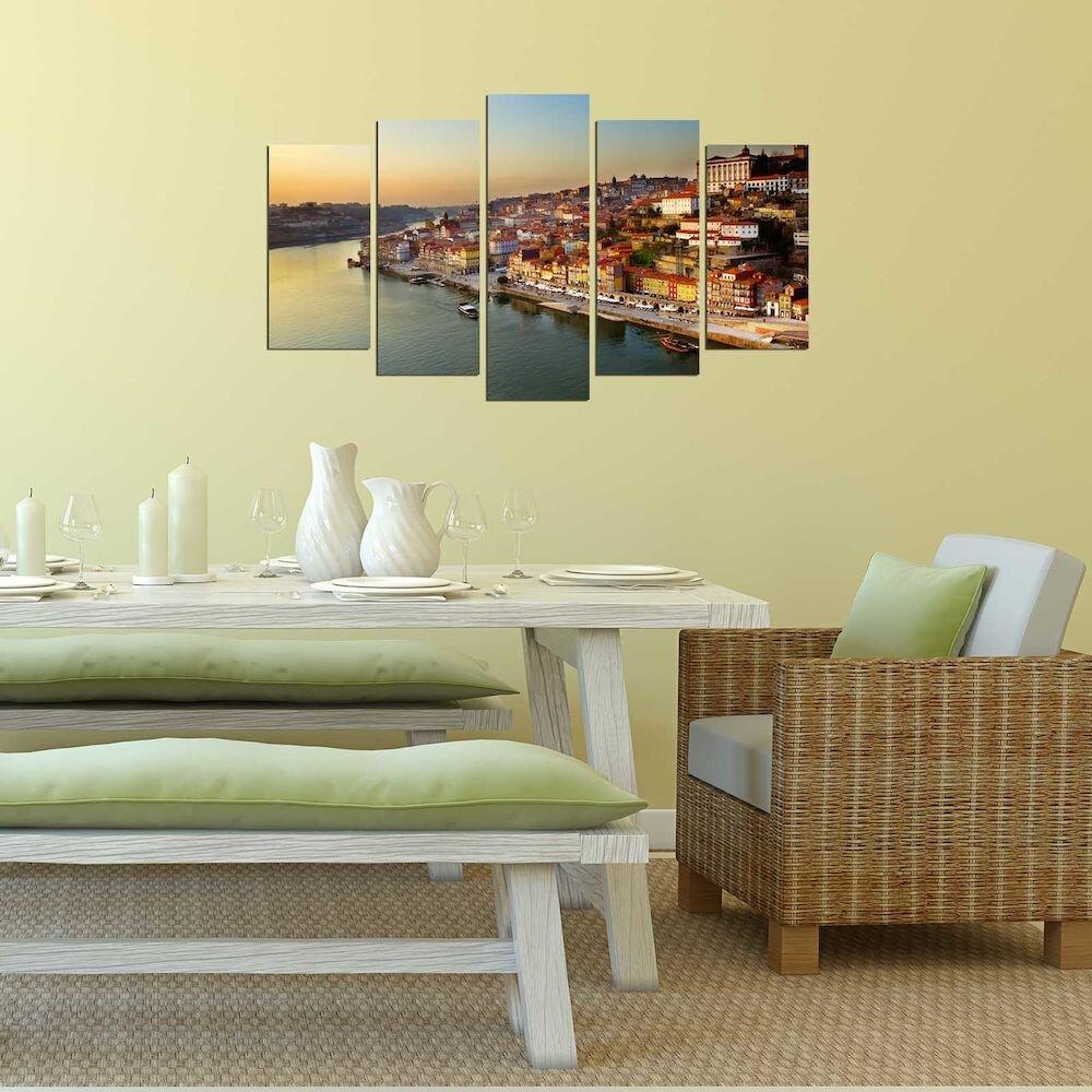 Tablou decorativ multicanvas Pure, 250PUR2937, 5 Piese, MDF