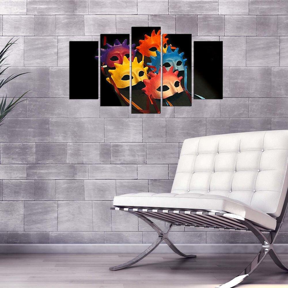 Tablou decorativ multicanvas Pure, 250PUR2945, 5 Piese, MDF