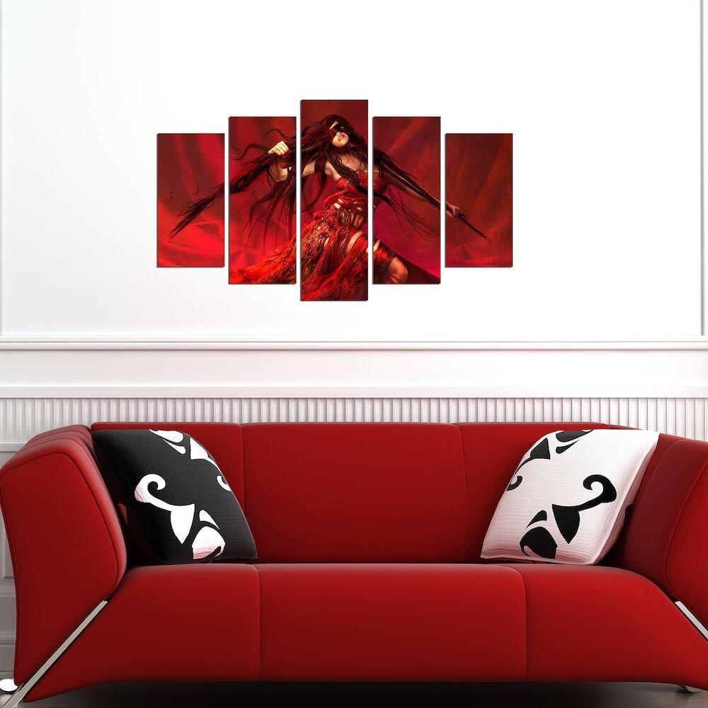 Tablou decorativ multicanvas Pure, 250PUR2906, 5 Piese, MDF