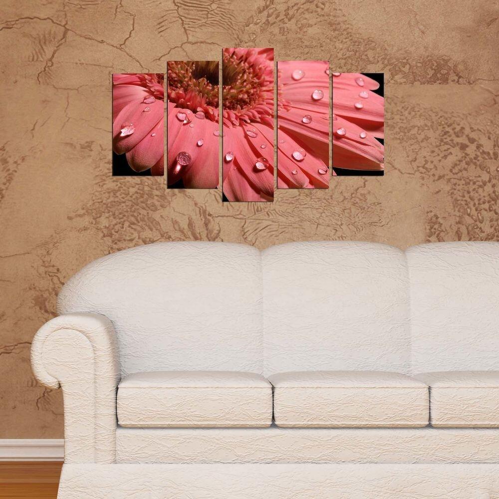 Tablou decorativ multicanvas Pure, 250PUR2954, 5 Piese, MDF