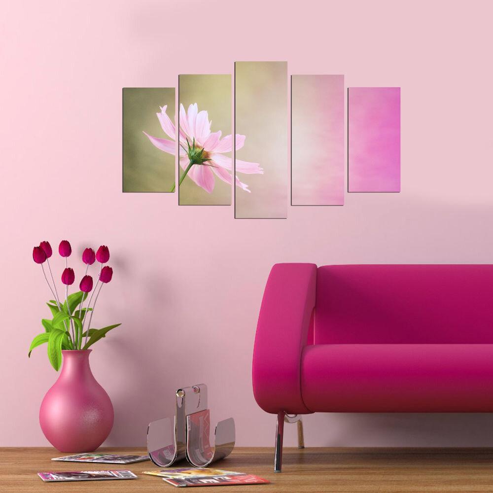 Tablou decorativ multicanvas Pure, 250PUR2956, 5 Piese, MDF