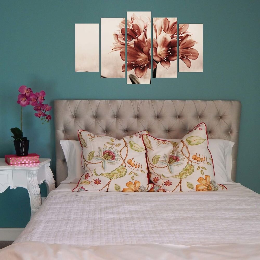 Tablou decorativ multicanvas Pure, 250PUR2961, 5 Piese, MDF
