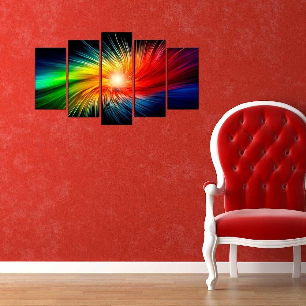 Tablou decorativ multicanvas Pure, 250PUR2972, 5 Piese, MDF