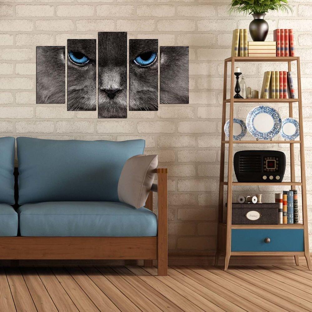 Tablou decorativ multicanvas Pure, 250PUR2974, 5 Piese, MDF
