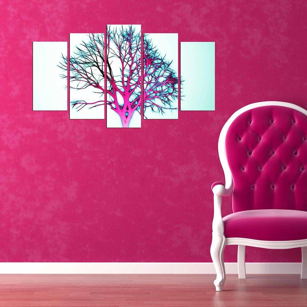 Tablou decorativ multicanvas Pure, 250PUR2909, 5 Piese, MDF