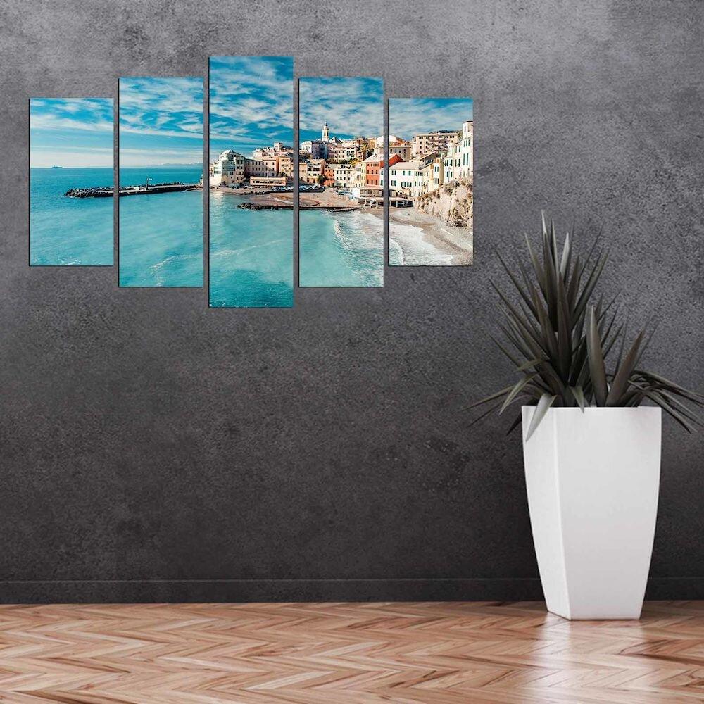 Tablou decorativ multicanvas Pure, 250PUR3901, 5 Piese, MDF