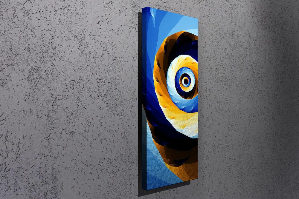 Tablou decorativ pe panza Majestic, 257MJS1283, 30 x 80 cm, panza