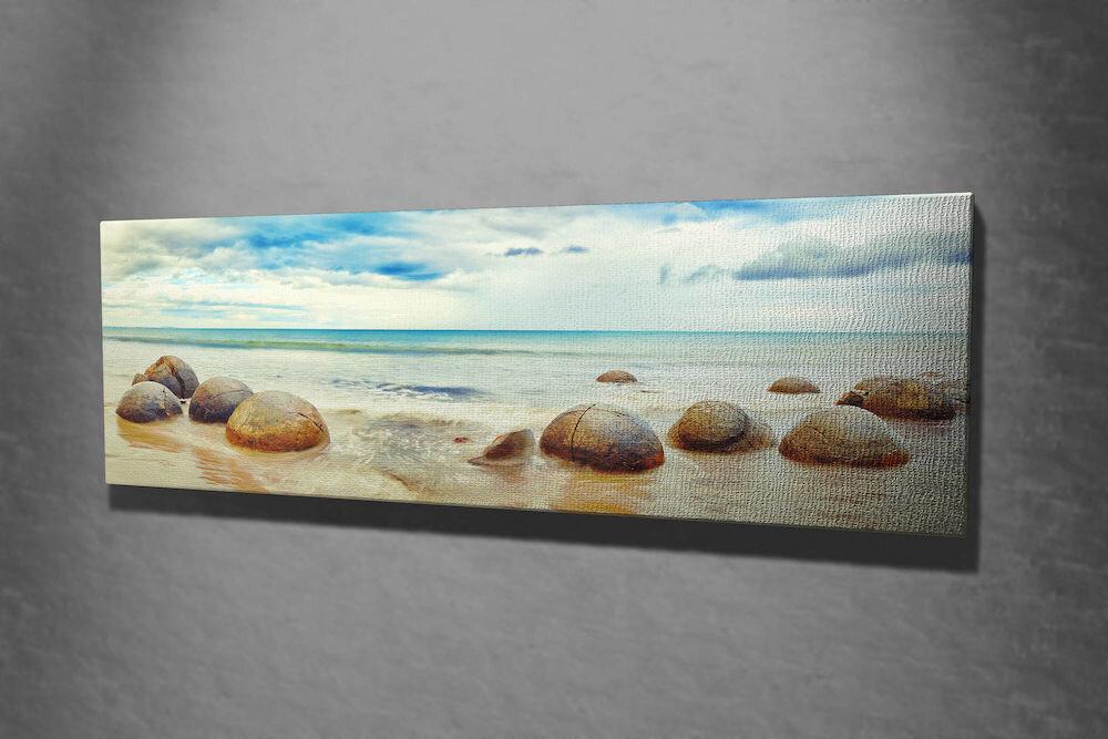 Tablou decorativ pe panza Majestic, 257MJS3267, 30 x 80 cm, panza