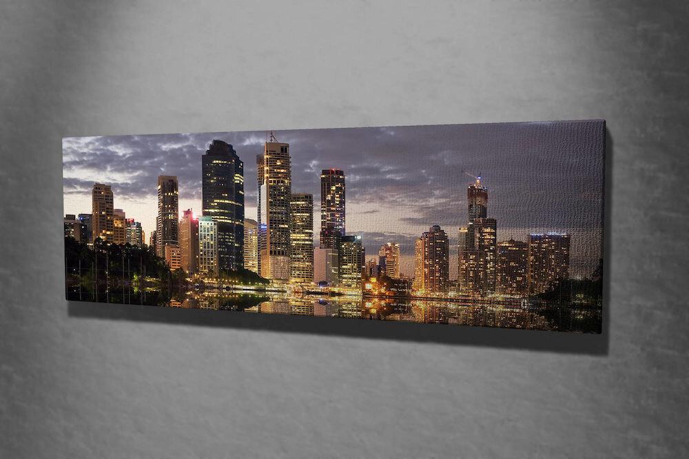 Tablou decorativ pe panza Majestic, 257MJS3269, 30 x 80 cm, panza