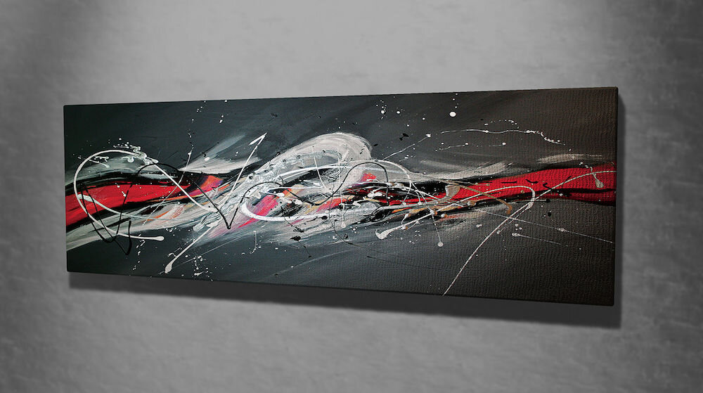Tablou decorativ pe panza Majestic, 257MJS1323, 30 x 80 cm, panza