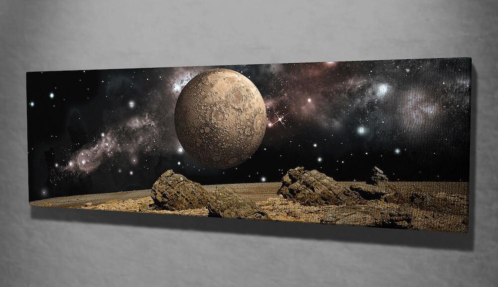 Tablou decorativ pe panza Majestic, 257MJS1326, 30 x 80 cm, panza