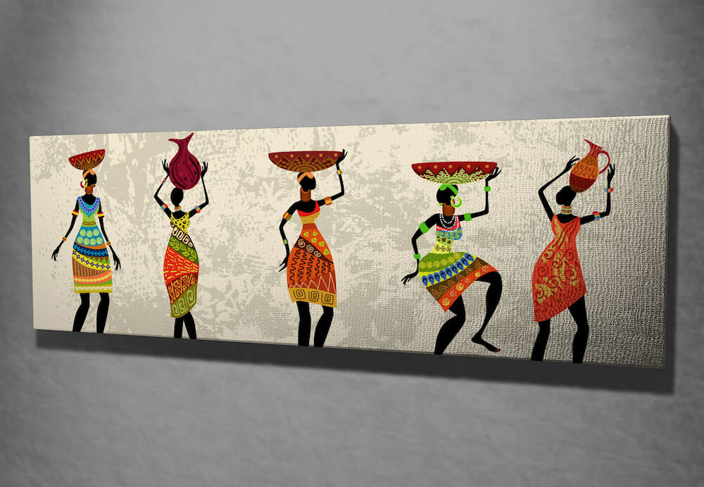 Tablou decorativ pe panza Symphony, 762SYM1244, 30 x 80 cm, panza