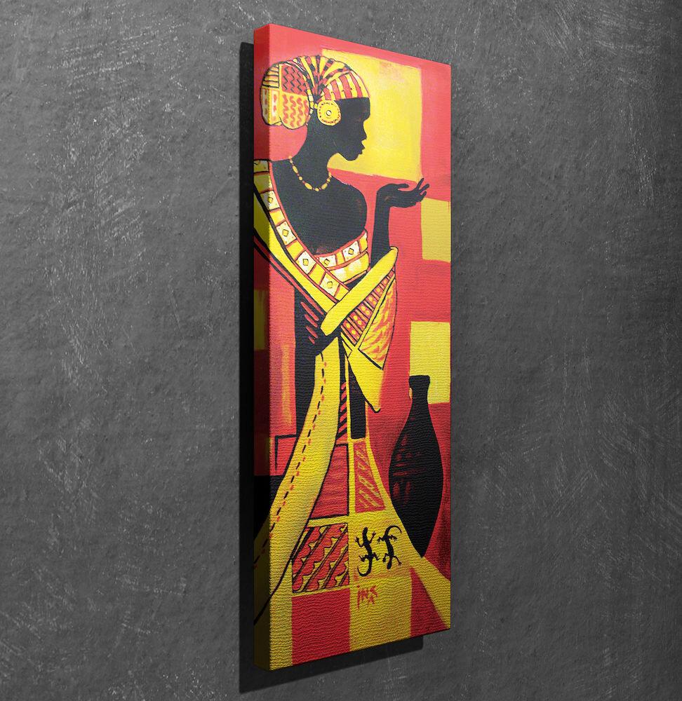 Tablou decorativ pe panza Symphony, 762SYM1259, 30 x 80 cm, panza