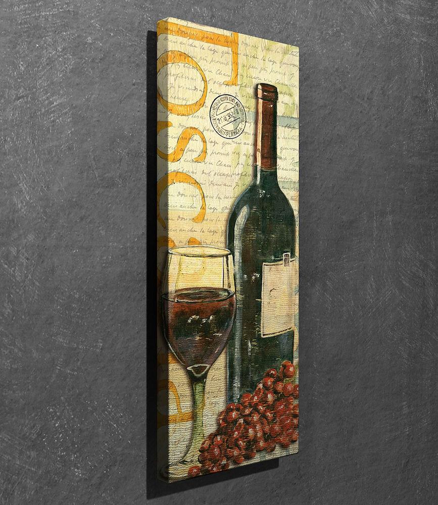 Tablou decorativ pe panza Symphony, 762SYM3227, 30 x 80 cm, panza