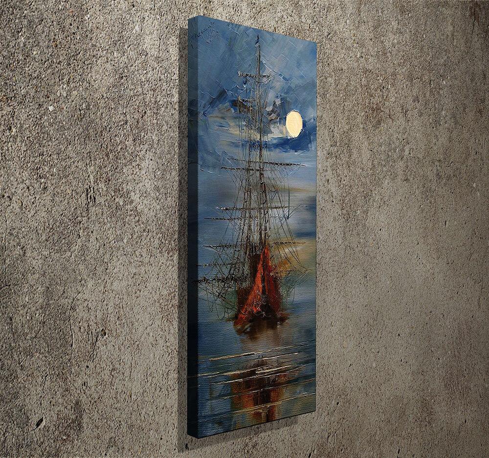 Tablou decorativ pe panza Symphony, 762SYM3297, 30 x 80 cm, panza